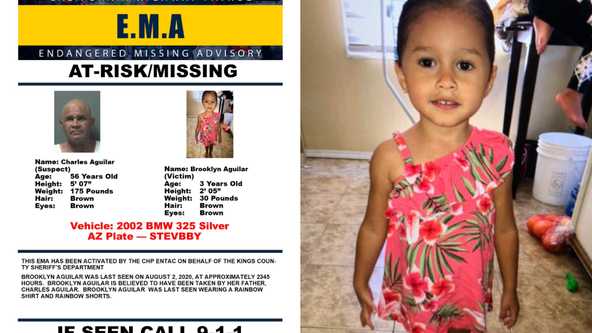 Calif. authorities searching for missing 3-year-old taken by father, CHP says