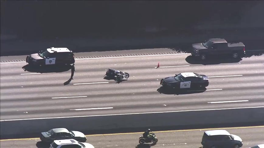 CHP investigating accident that downed motorcycle officer on I-880 in San Leandro