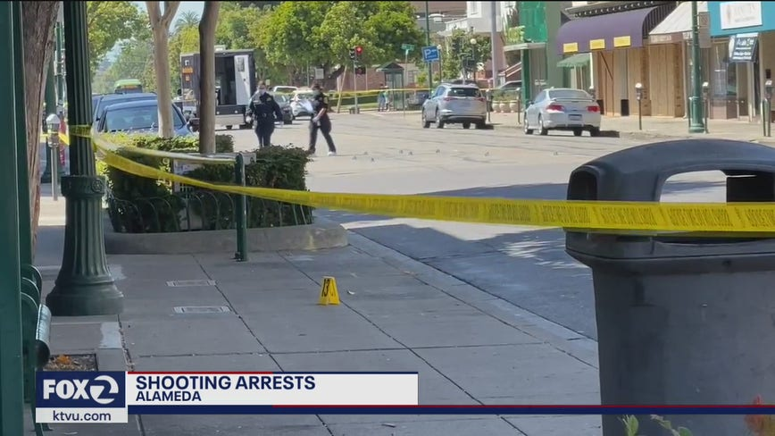 Four arrested in connection with downtown Alameda shooting