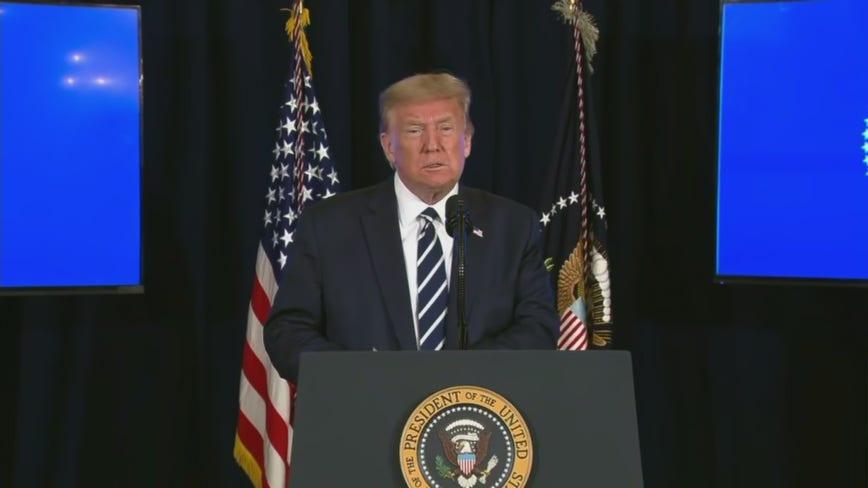 President Trump discusses economic relief as virus talks collapse