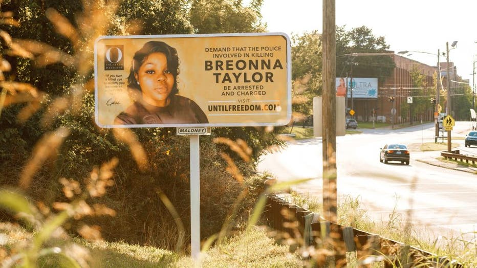 fd97db90-Billboards Placed Across Louisville Call For The Arrest Of Police Officers Involved In Killing Of Breonna Taylor
