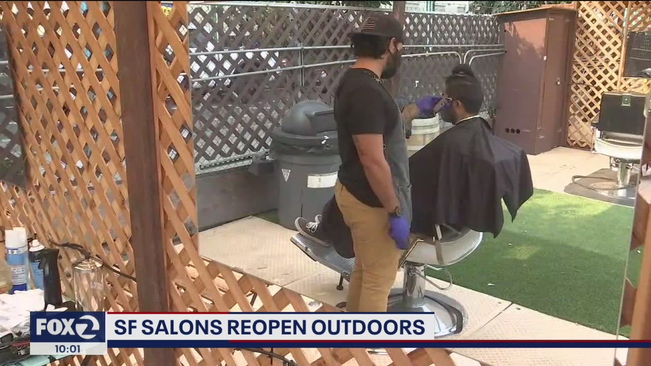 Shuttered food truck park becomes outdoor barber collective