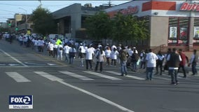 San Francisco Archdiocese members march in protest against coronavirus gathering restrictions
