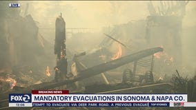 Wildfires prompt mandatory evacuations in Sonoma and Napa counties