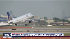 United Airlines to lay off 16,370 employees
