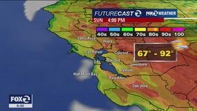 WEATHER FORECAST: Slightly warmer temps Sunday, hazy