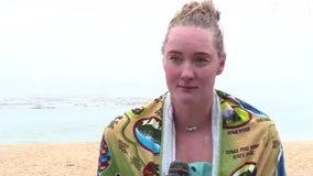 Pleasanton woman completes non-stop swim across Monterey Bay