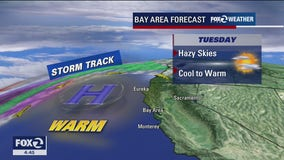 Another hazy day with cool to warm temps