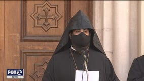 San Francisco clergy, civic leaders gather for Armenian church solidarity vigil