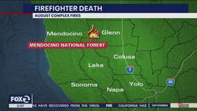 Firefighter dies battling August Complex Fire in Mendocino County