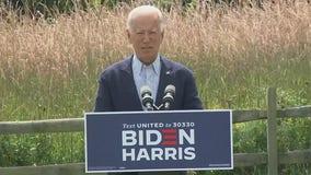 Former VP Joe Biden delivers remarks on wildfires, climate change