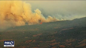 Glass Fire grows more than 20,000  acres in about six hours