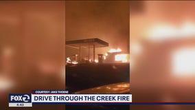 Cal Fire contractor describes intense drive through firestorm