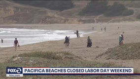 Beaches closing over Labor Day weekend in Pacifica