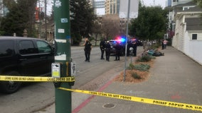 Driver who rammed two Oakland police officers remains at large