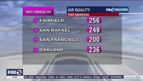 Air quality in Bay Area is awful and will persist through next week