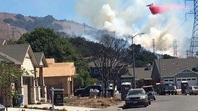 Crews contain Santa Rosa vegetation fire that threatened several homes