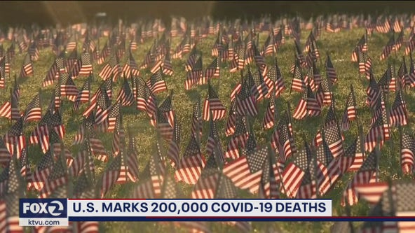 U.S. reaches staggering human toll of 200,000 COVID-19 deaths