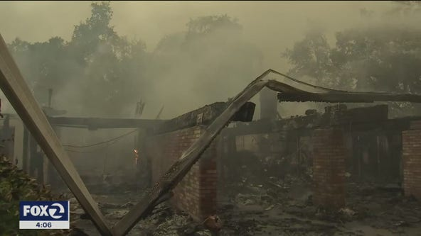 Glass Fire flattens 80 home between Napa and Sonoma counties