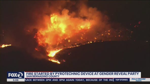California wildfire started because of pyrotechnics at gender reveal gathering: CalFire