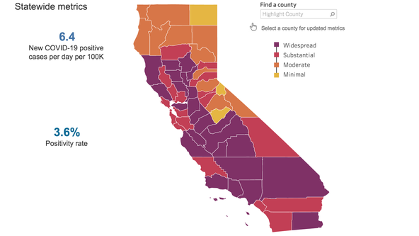 All but two Bay Area counties in the red tier