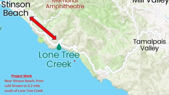 Traffic controls planned during fire damage road repairs on Highway 1 in Marin County