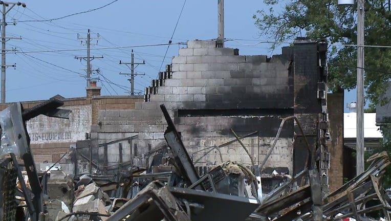 Fires during unrest in Kenosha