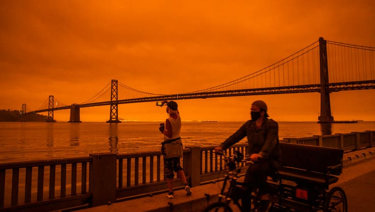 Wildfires Envelop San Francisco Bay Area In Dark Orange Haze