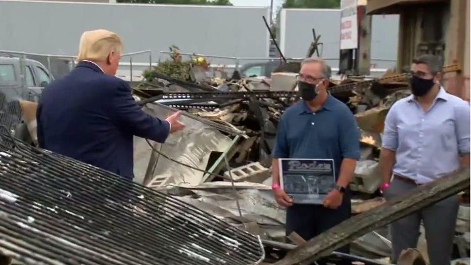President Donald Trump visits Kenosha