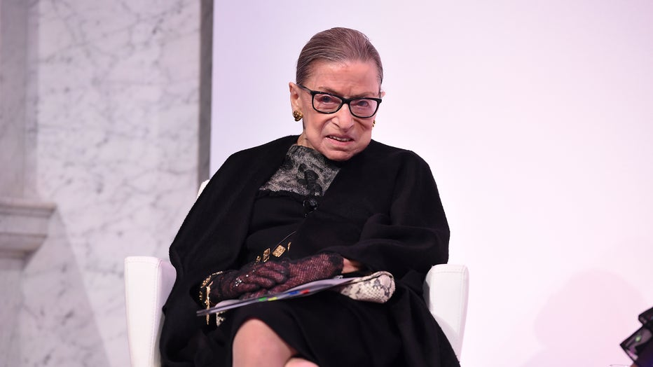 Supreme Court Justice Ruth Bader Ginsburg, in a photo taken on February 19, 2020