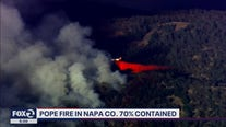 Cal Fire making progress on Pope Fire in Napa Co.