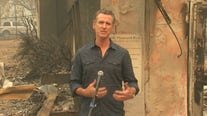 Gov. Newsom tours damage from the Glass Fire
