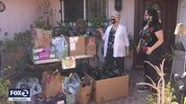 Caravan donating Halloween treats to children of farmworkers