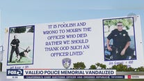 'Cowardly:' Vallejo police union upset vandals smashed billboard honoring officers