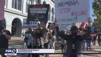 Hundreds rally in support of Azerbaijan