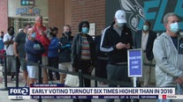 Early voter turnout is already six times higher than at this point in 2016
