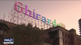 Ghirardelli Square sign shining bright after complete restoration