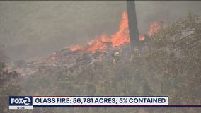 Firefighters brace for unpredictable conditions at Glass Fire
