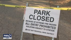 East Bay regional parks will remain closed due to fire danger