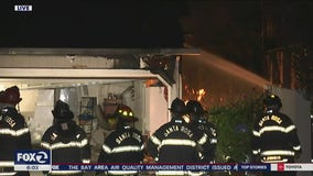 Fire at Santa Rosa homes sounds like gunfire, brings out police