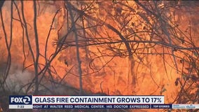 Glass Fire containment increases to 17% early Sunday morning