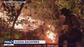 Intentional backfires are a risky tool for firefighters