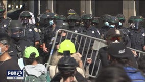 Conservatives staging free speech rally in San Francisco attacked by counter protestors