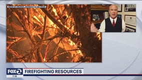 Mark Neveau talks firefighting resources at the Glass Fire