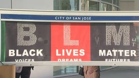 San Jose leaders install Black Lives Matter banners at City Hall