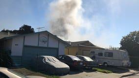 Union City firefighters battle house fire near Quarry Lakes Regional RecreationArea