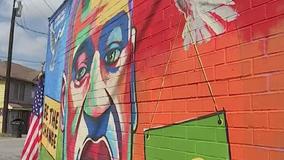 George Floyd mural unveiled in his hometown of Houston on week of his birthday