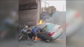 'Thank you, thank you:' I-80 crash victim's family thanks good Samaritan via video