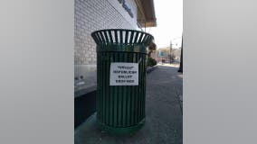 Trash cans in California town of Crockett littered with anti-Republican ballot jokes