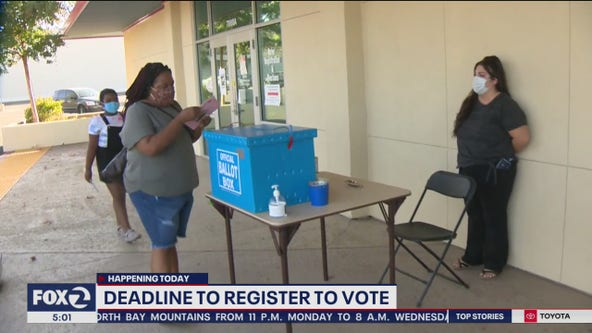 Today is the last day to register online to vote in California